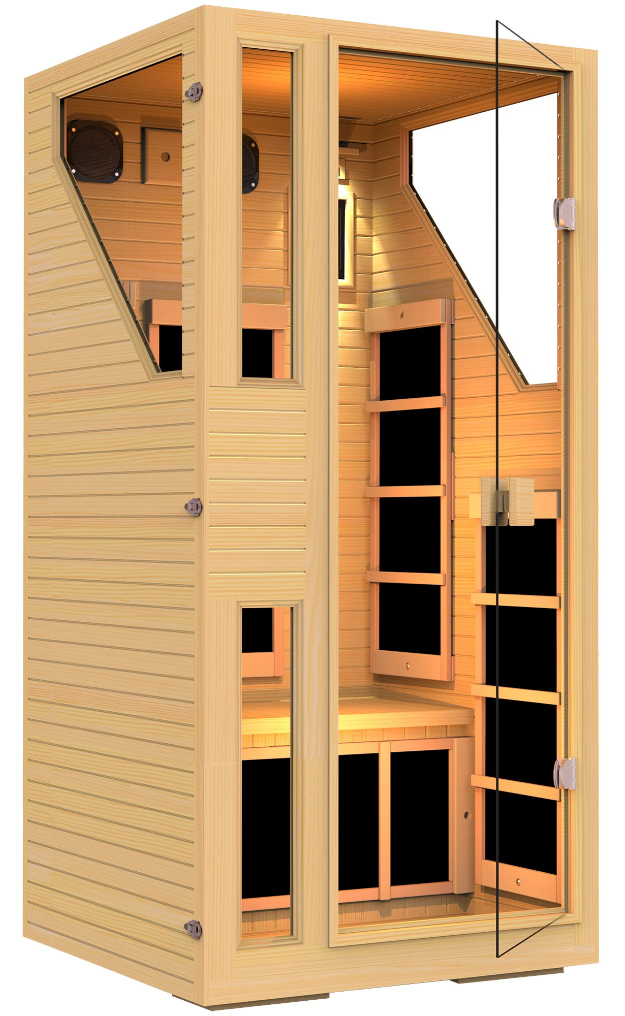 JNH Lifestyles NE1HB1 ENSI Collection 1 Person NO EMF Infrared Sauna Limited by JNH Lifestyles (Image #3)