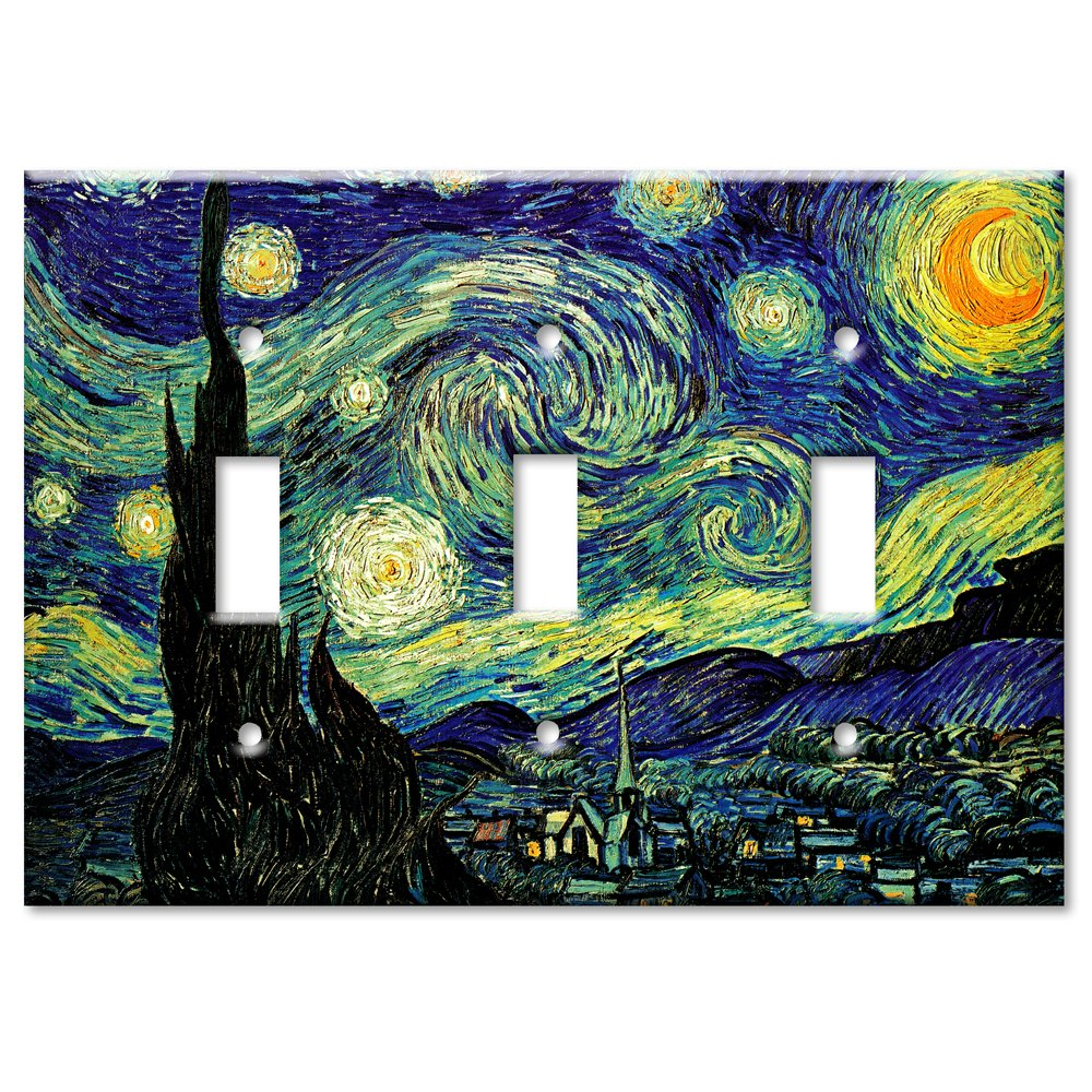 激安特価  (2 Gang Double Decora) Toggle - Van Gogh: Night Starry Night Metal Wall Plate - Double Gang Decora B00EYVDN96 3 Gang Toggle 3 Gang Toggle, イタリアの香りを!DANROMA:c935ad5c --- svecha37.ru