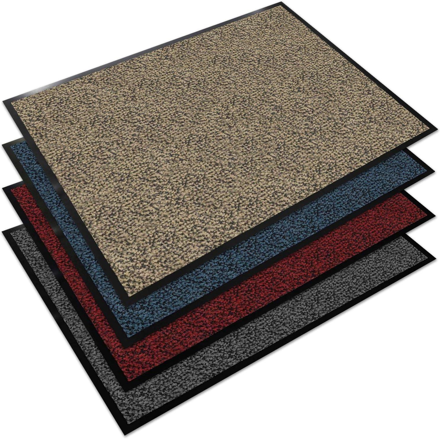 40x60 cm Testsieger Fu/ßmatte in vielen Farben und Gr/ö/ßen Floordirekt EVEREST Schmutzfangmatte Sky anthrazit-schwarz
