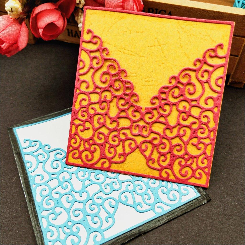 Groy Invitation Cutting Dies Pochoir Scrapbooking Photo Album Carte Gaufrage Artisanat