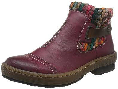 Rieker Womens Rambler Knit Panel Ankle Boots 36 M EU556 B