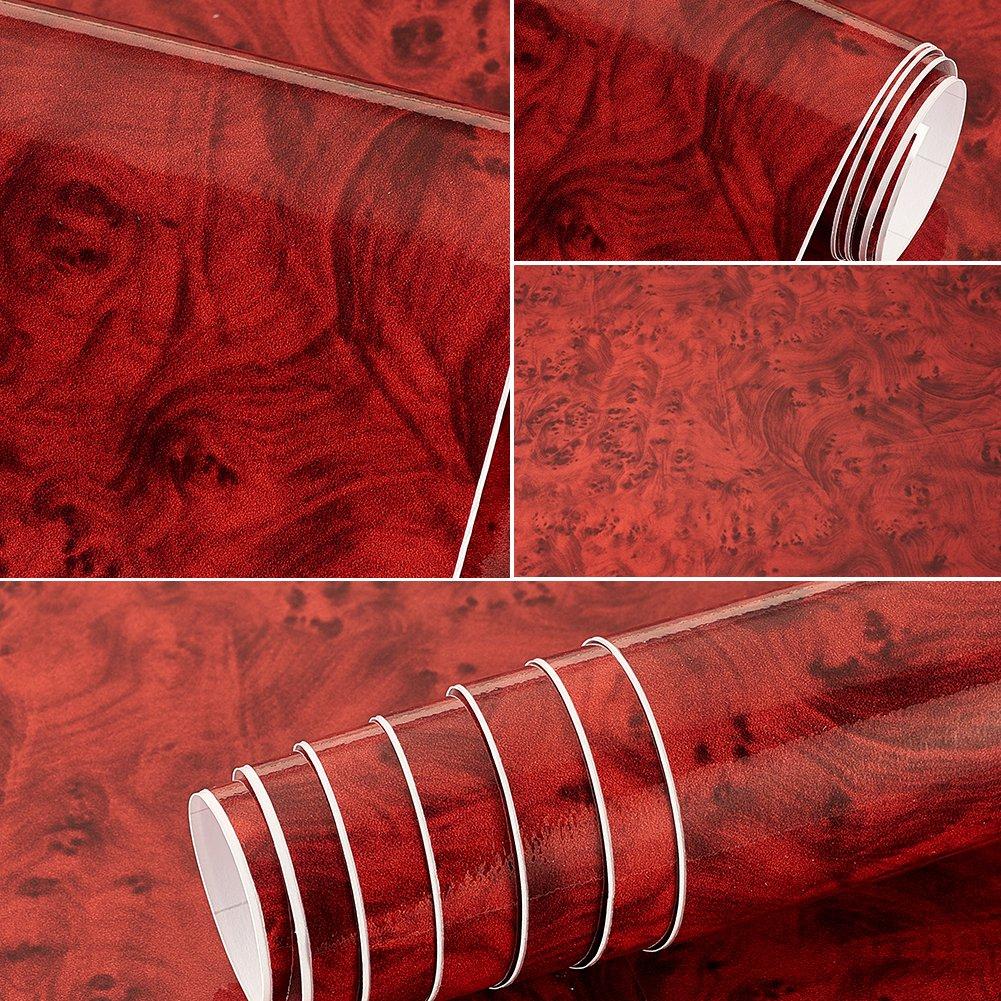 Rose Maple Birdseye Wood Grain Vinyl Wrap Sticker Decorative Self-Adhesive Film 30CMx50CM ATMOMO