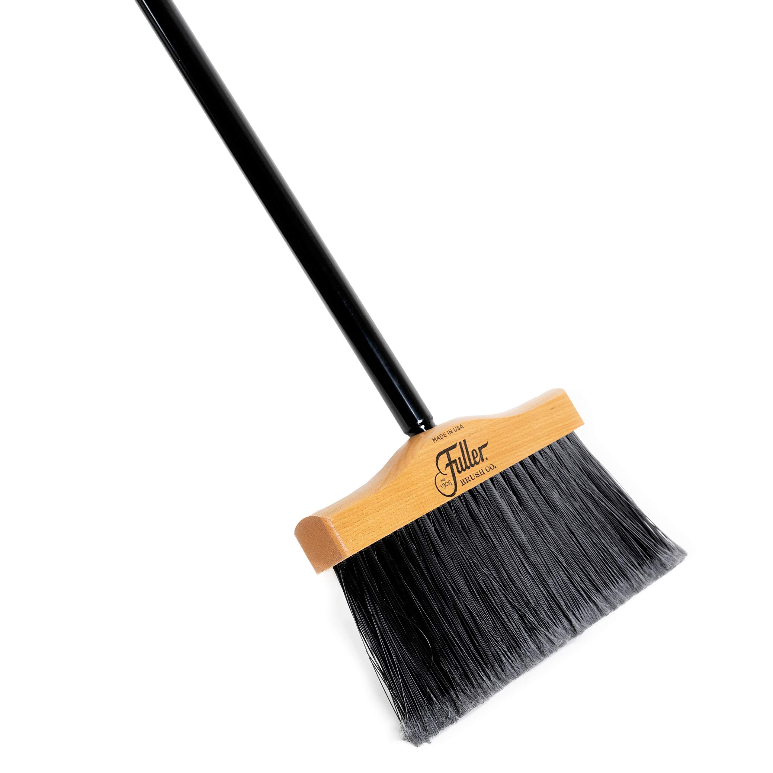 Fuller Brush Indoor/Outdoor Broom - Heavy Duty Wide Wooden Sweeper w/Long Bristles - Commercial Floor Brush for Salon, Shop, Kitchen & Garage - 10-inch Wide by Fuller Brush