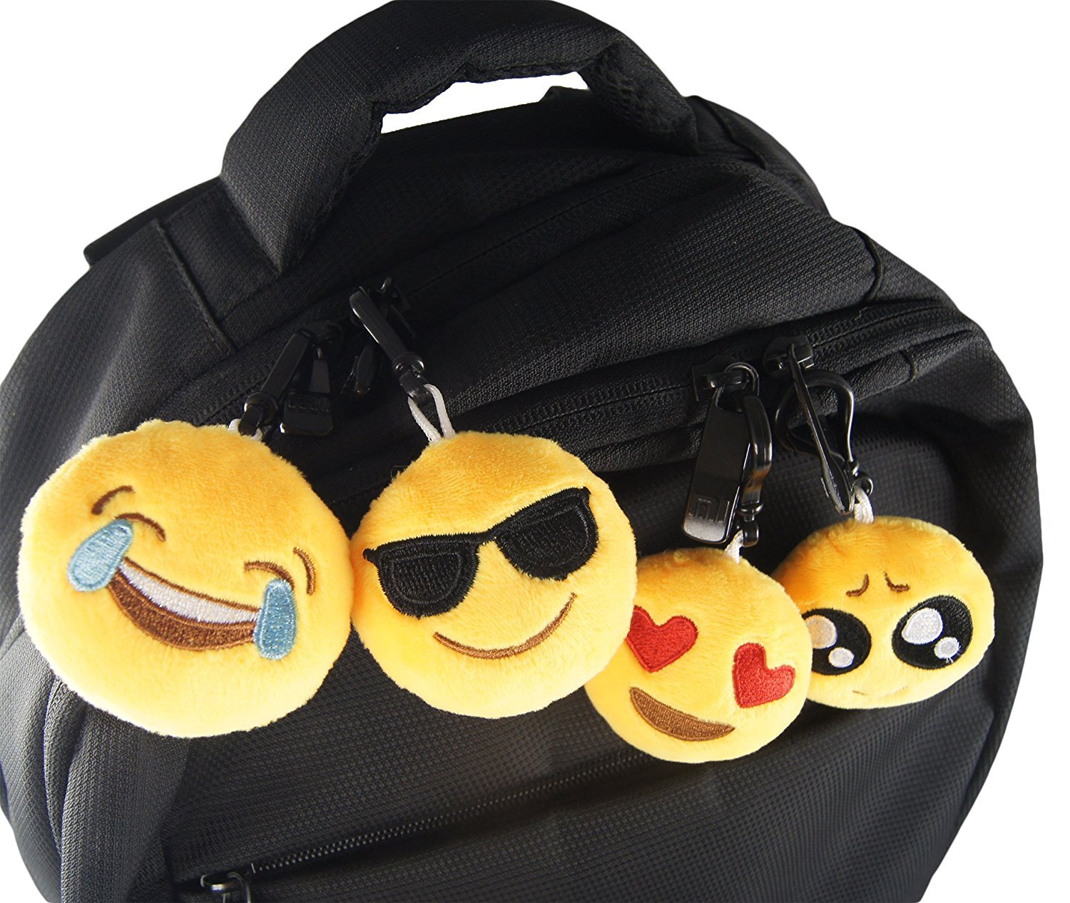 Emoticon Keychain Decorations Kids Party Supplies Favors 8 Pack TOPBY 2 Emoji Mini Plush Pillows Class Birthday Present Bag Fillers