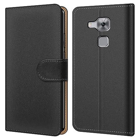 Conie BW10167 Basic Wallet Kompatibel mit Huawei Nova Plus, Booklet PU Leder Hülle Tasche mit Kartenfächer und Aufstellfunkti