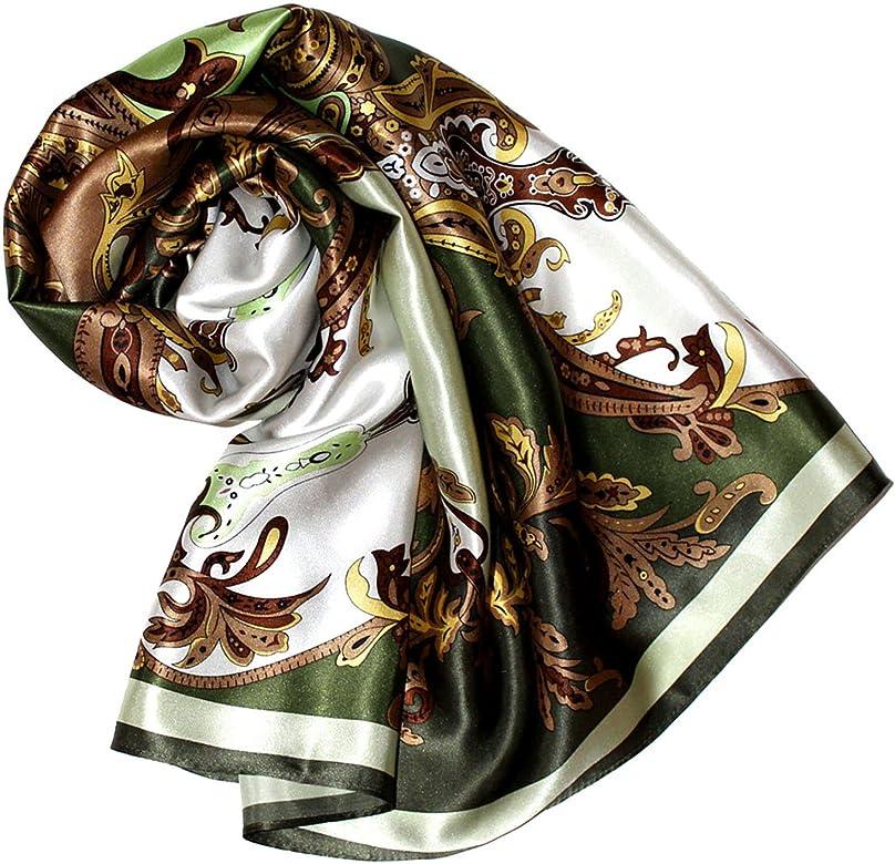 /él/égant et tr/ès color/é LORENZO CANA Foulard pour la femme soyeux /écharpe /à la mode de 100/% soie pour le printemps et l/´/ét/é avec les mesures de 100 cm x 100 cm une sensat