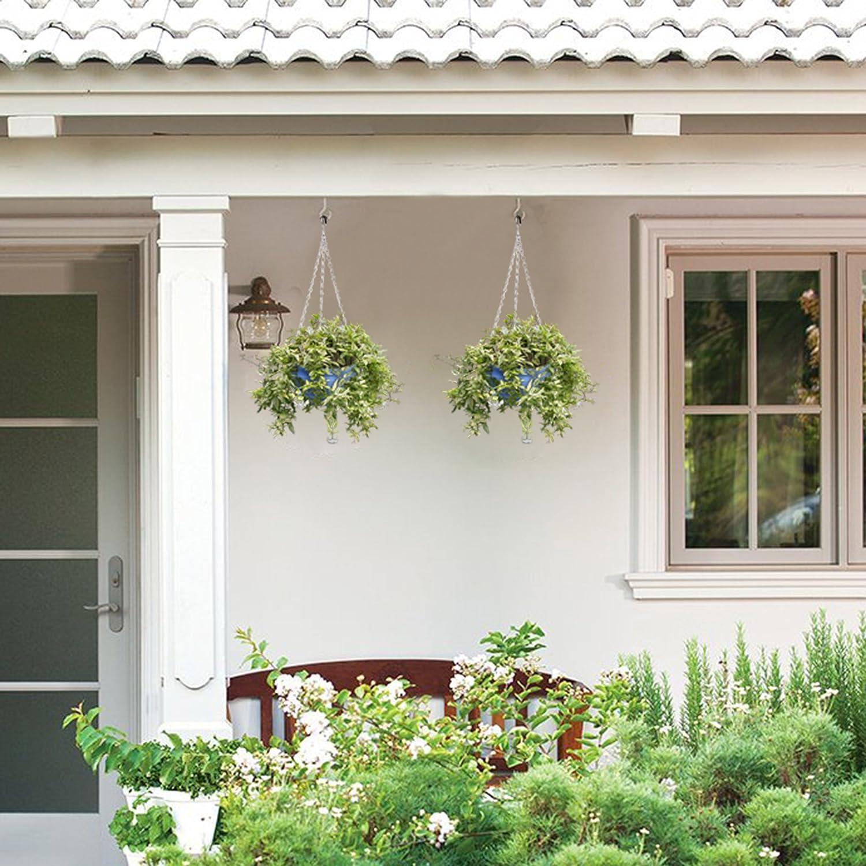 KLOUD City plástico para colgar flores maceta cesta maceta soporte con cadena para jardín Patio Decoración del hogar: Amazon.es: Jardín