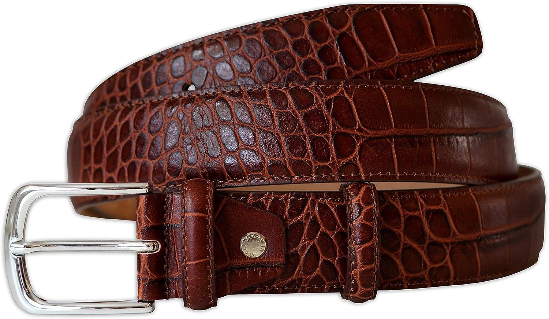 buckle Belt Mens Buckle  gift for him leather belt alligator belt buckle for men NAVY Genuine Alligatorcrocodile belt