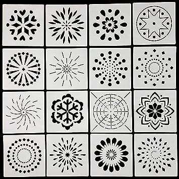 Amazon Com Mandala Dotting Stencils Template Reusable Mandala Dot