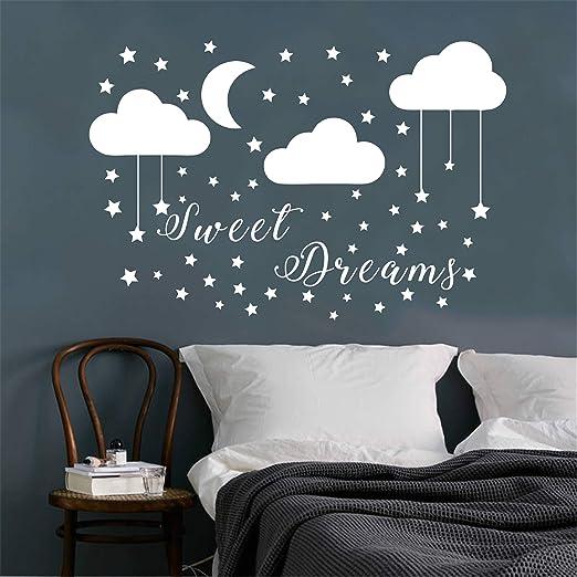 Vinyl Decal Kids Nursery Home Decor Sweet Dreams Quote Wall Art Sticker