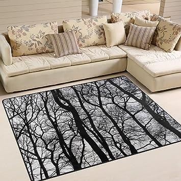 ingbags Super Soft modernes schwarz und weiß Vintage Baum, ein ...
