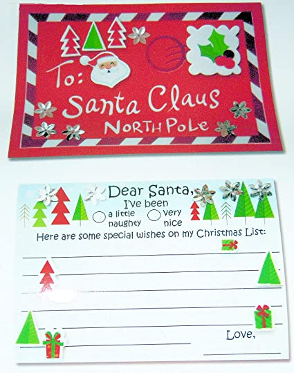 Christmas Letters.Amazon Com Christmas Letters Foam Cards To Santa Naughty
