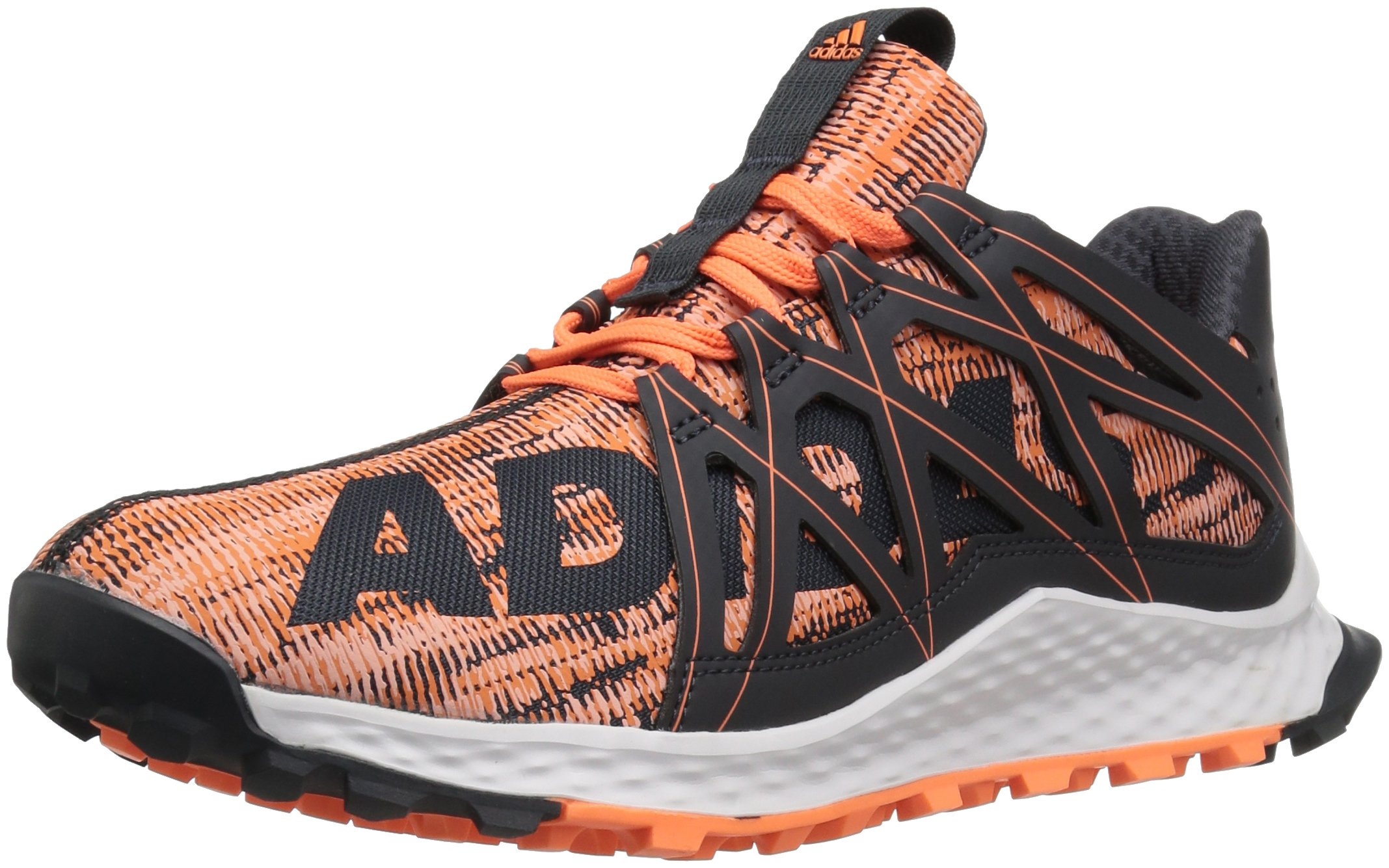 adidas Performance Women's Vigor Bounce w Running Shoe, Dark Grey/Glow Orange/White, 8.5 M US