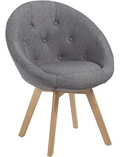 Kleiner Hocker Sessel Stuhl Mit Lehne Creme Weiß 487 Amazonde