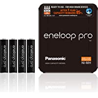 Panasonic Eneloop Pro, Klaar voor Gebruik Ni-Mh Batterij, AAA Micro, Min. 930 mAh, 500 Laadcycli, Extra Sterke…