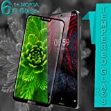 CASE FACTORY 6D Full Glue Tempered Glass Screen Protection for Nokia 6.1 Plus (Black)