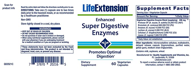 Super reforzada de Enzimas digestivas, 60 Caps - Veggie Life ...