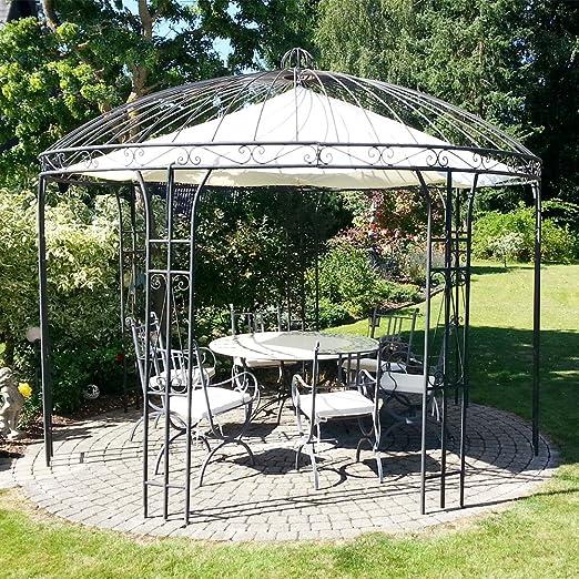 Albena Marokko Galerie 33-100 - Cenador de jardín (hierro, 360 cm de diámetro): Amazon.es: Jardín