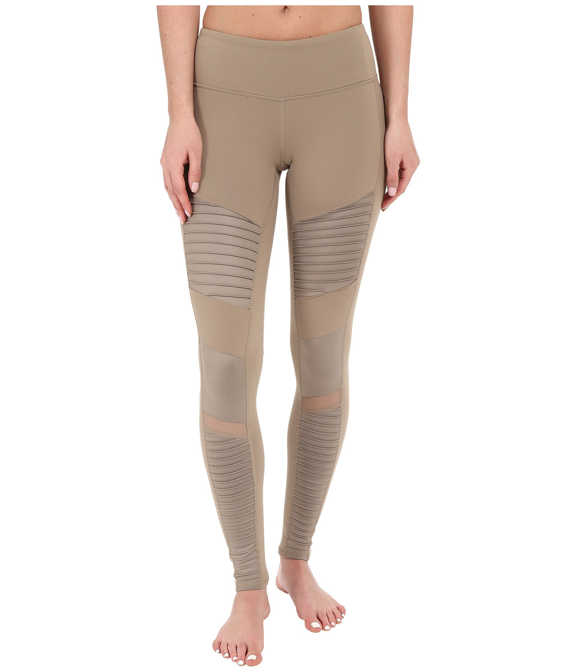 Alo Yoga Women's Moto Legging, Gravel/Gravel Glossy, XX-Small
