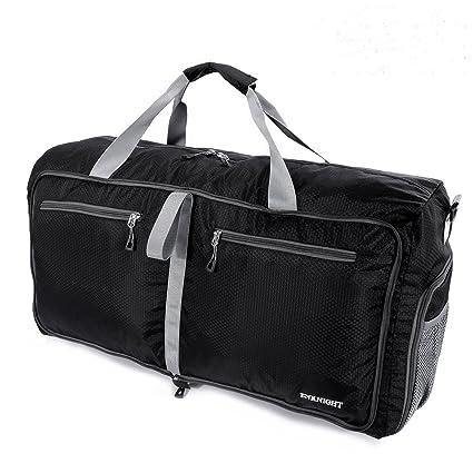 ffa5a232f1 ENKNIGHT 55L Travel Waterproof Foldable Duffel Bag Luggage Bag Sports Gym  Bag Black