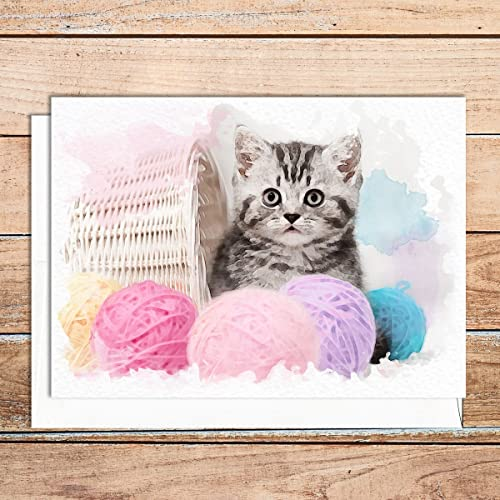 Amazon Supperb Handmade Cat Greeting Cards