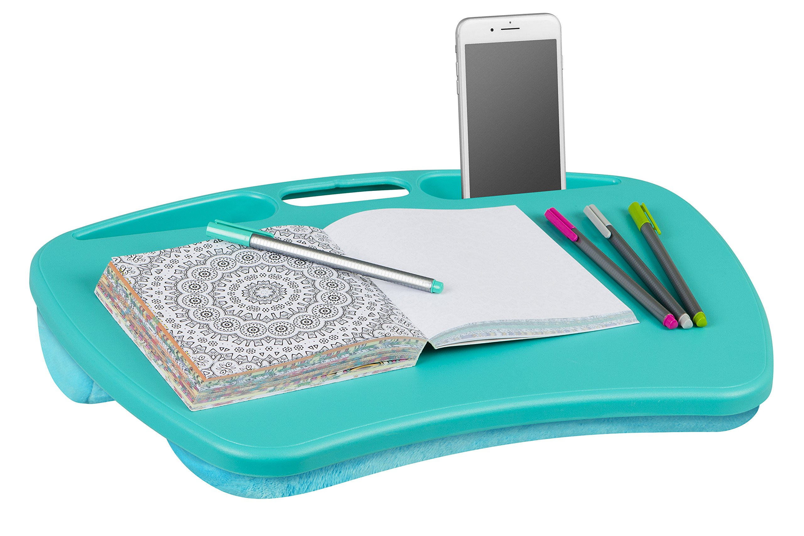 LapGear MyDesk Lap Desk - Turquoise - Fits up to 15.6 Inch laptops - Style No. 45349 by LapGear