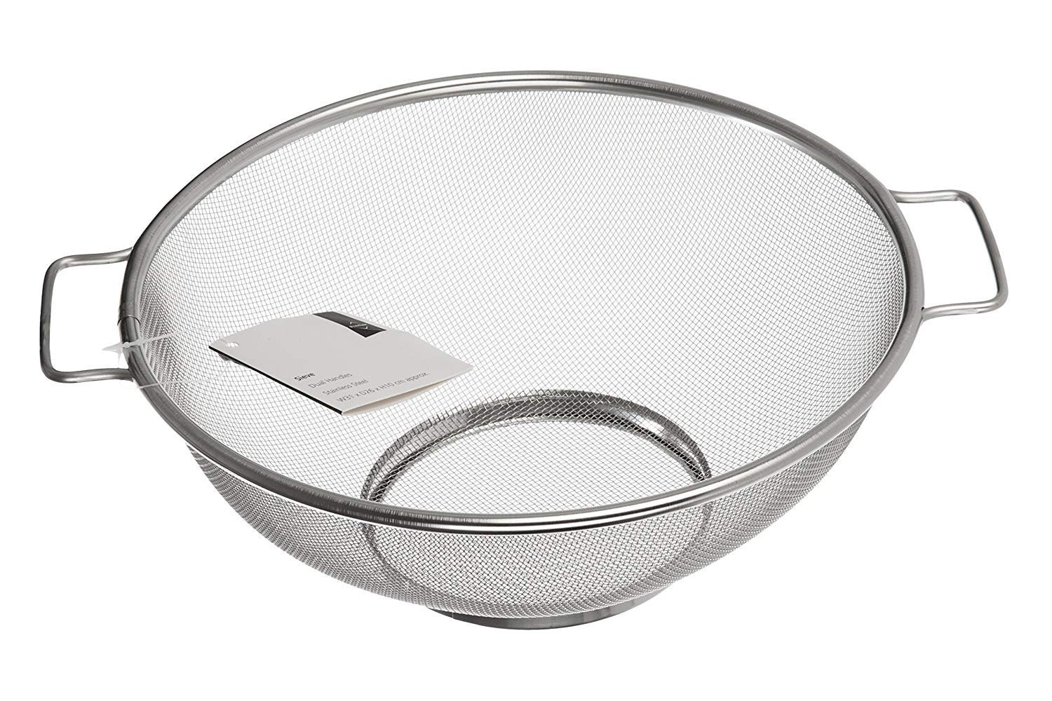 LPWORD Housewares Sieve with Handles, Stainless Steel