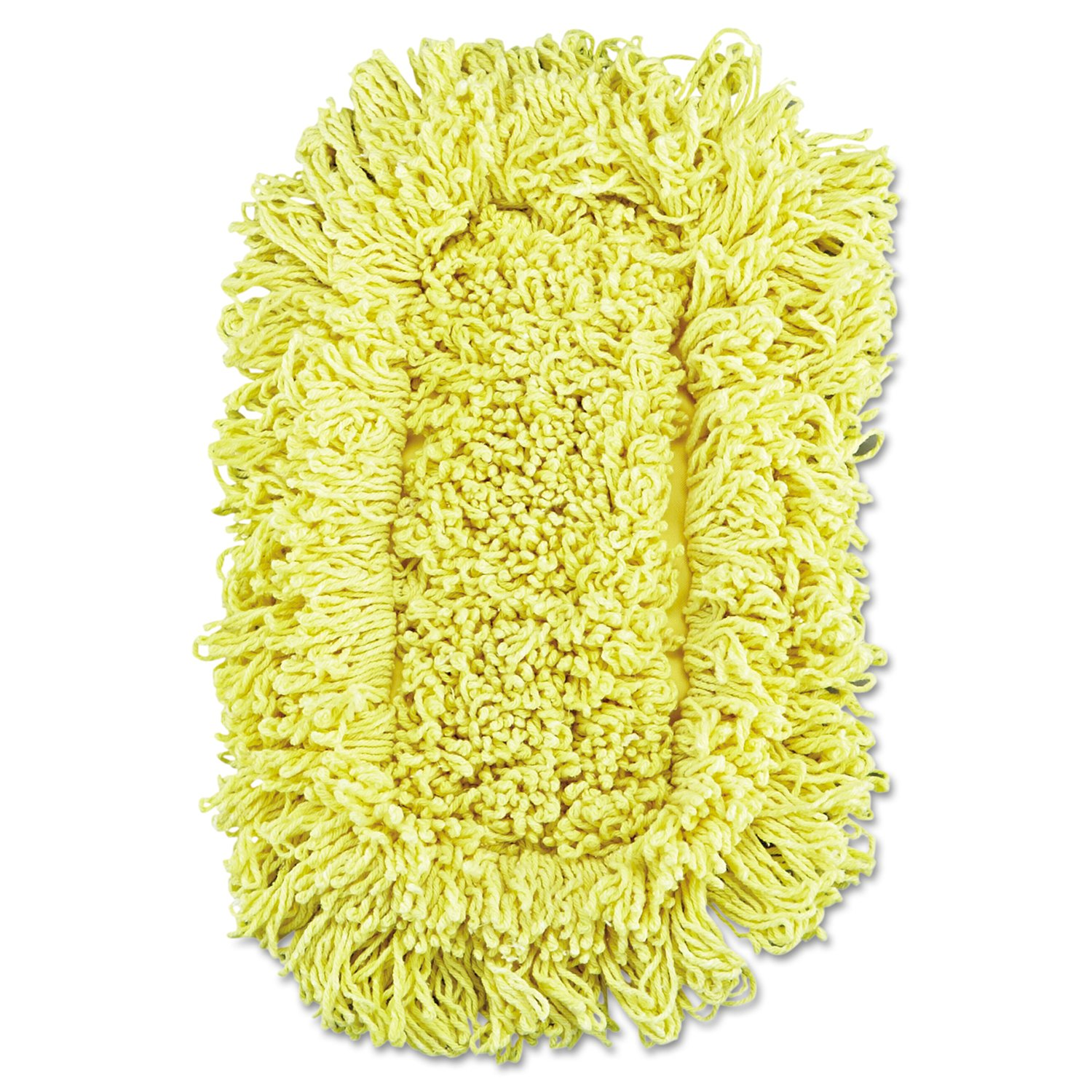 Rubbermaid Commercial RCP J151-12 Trapper Looped-End Dust Mop Head, 12'' x 5'', Yellow (Pack of 12)