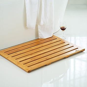 Charmant Mosa Natural Bamboo Bath Mat (28u0026quot; X 20u0026quot;), Wood Bathroom  Accessories