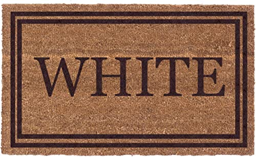 Coco Mats N More Brown Double Bordered Personalized Coco Doormat 22 x 36 with Vinyl Backing