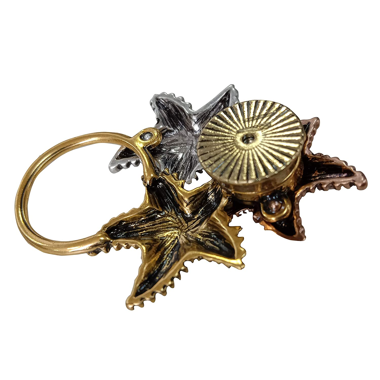 NOUMANDA Fashion Cute Starfish 3 Colors Enamel Brooch Alloy Eyeglass Holder Magnetic