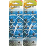 20 Eunicell AG4 / LR66 / 177/377 / LR626 Button Cell Battery Long Shelf Life 0% Mercury (Expire Date Marked)