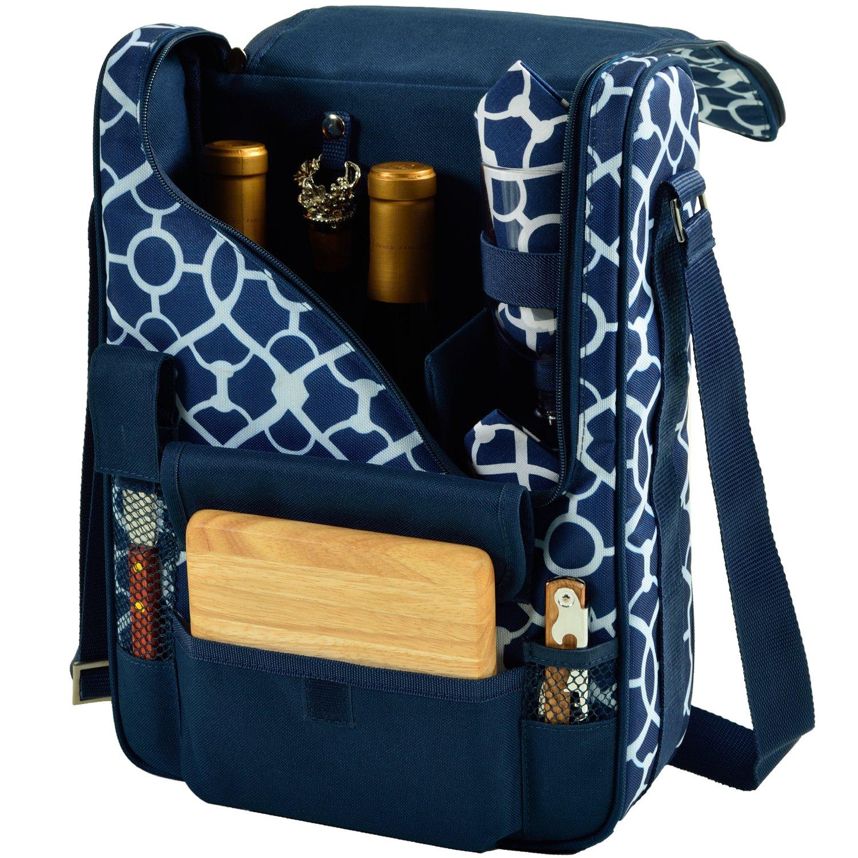 ワインキャリア One Size ブルー 434-TB B00JFPMQU8 Trellis Blue Trellis Blue