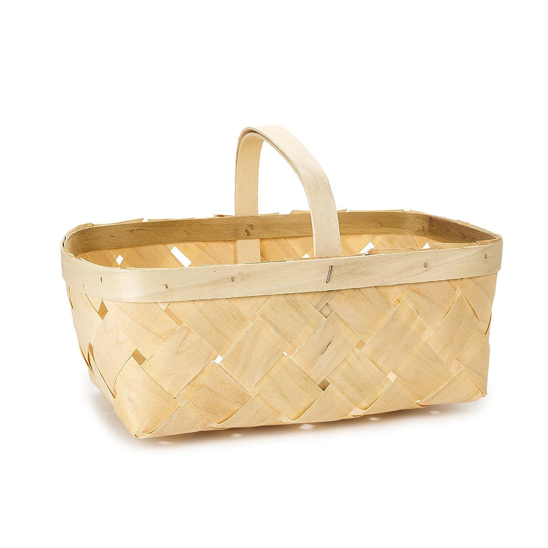 Darice Natural Wood Chip Basket Handle RB16QT