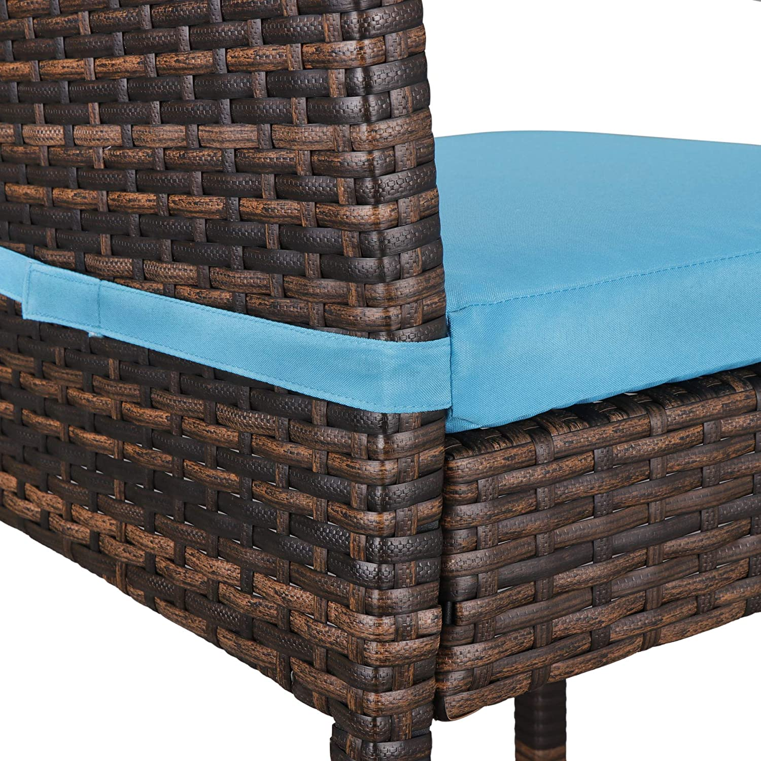 Amazon.com: Super Deal Outdoor Upgraded All Weather Wicker Bar ...
