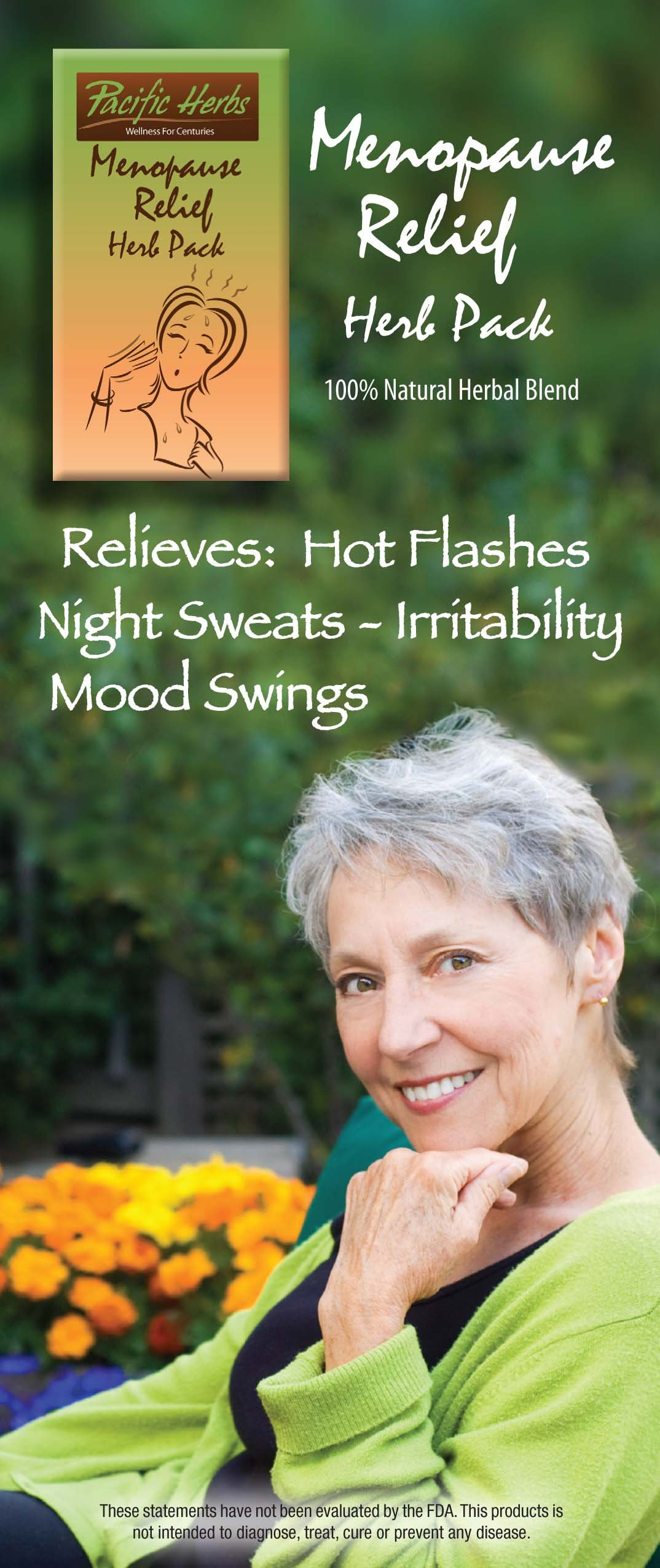 2 Packet Special - Menopause Relief Herb Pack - Natural answer for HOT Flashes - Night Sweats & All PERI-menopause and Menopause symptoms / 60-90 Day supply, usage instruction inside