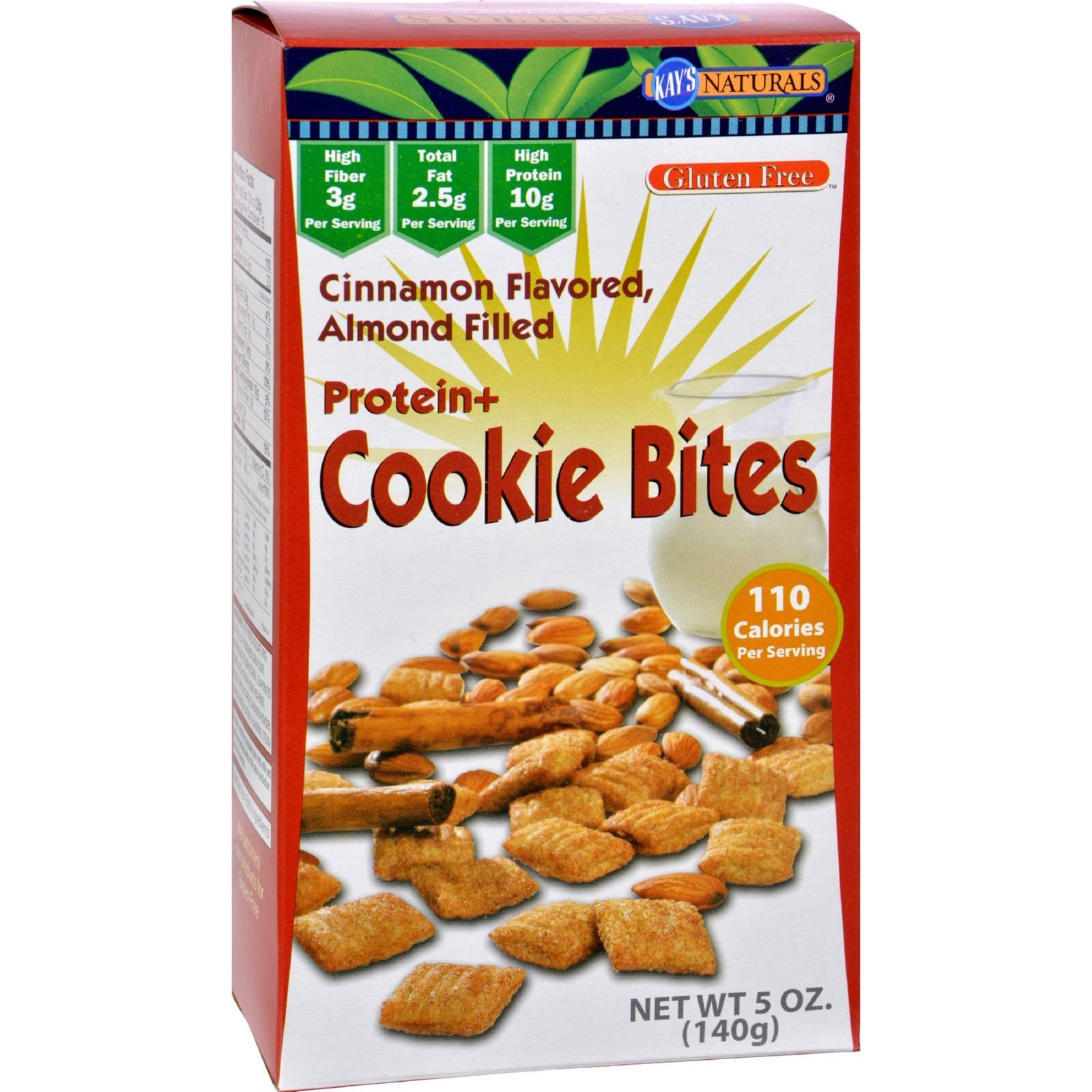 Kay's Naturals Cookie Bites - Cinnamon Almond - Case Of 6 - 5 Oz
