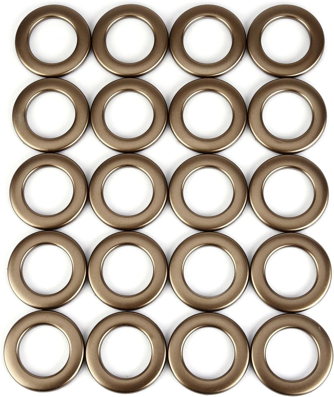20/PCS Runde Form Kunststoff Ring f/ür /Öse Vorhang Jalousie Draperie Kreis Slide Ringe T/üllen Clips Low Noise matt Kaffee