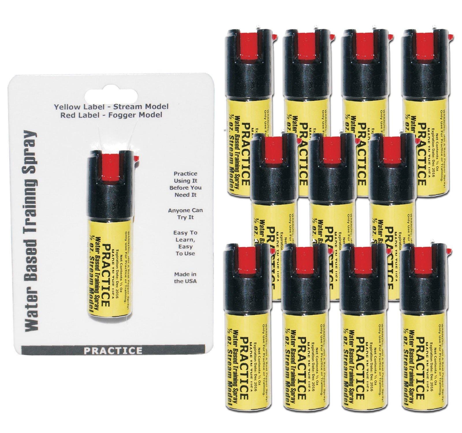 Inert Pepper Spray Practice Bundle - Lot of 12 - Inert Practice Pepper Spray units by Pepper Shot