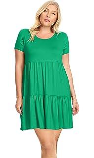 Womens Plus Size Tiered T Shirt Dresses Plus Size Sundress ...