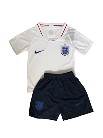 best website 51181 83a86 2018 England Football Team Kid's Children's Jersey Set with Shorts, 4 Star  World Cup England National Team White/Red 2-11 Years