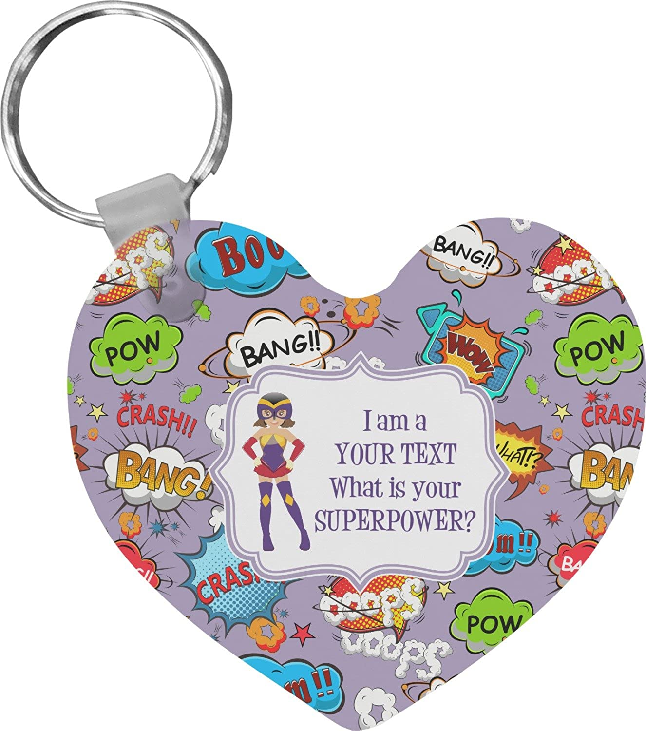 What is your Superpower Heart Keychain (Personalized)
