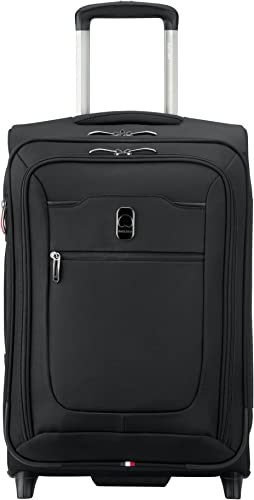 DELSEY Paris Hyperglide Softside Expandable Luggage Suitcase, 2 Wheels, Black, Carry-on 21 Inch