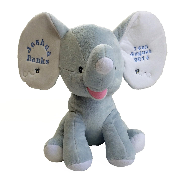 Personalised soft toy baby blue elephant great baby gift amazon personalised soft toy baby blue elephant great baby gift amazon baby negle Choice Image