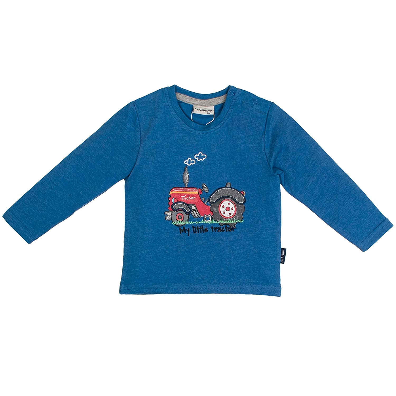 SALT AND PEPPER Baby-Jungen Langarmshirt B Longsleeve Little Man Appli 85211134