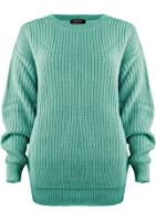 SA Fashions Oversized New Ladies Womens Chunky Baggy Jumper Knitted Sweater Thick Top S-XL 8-18