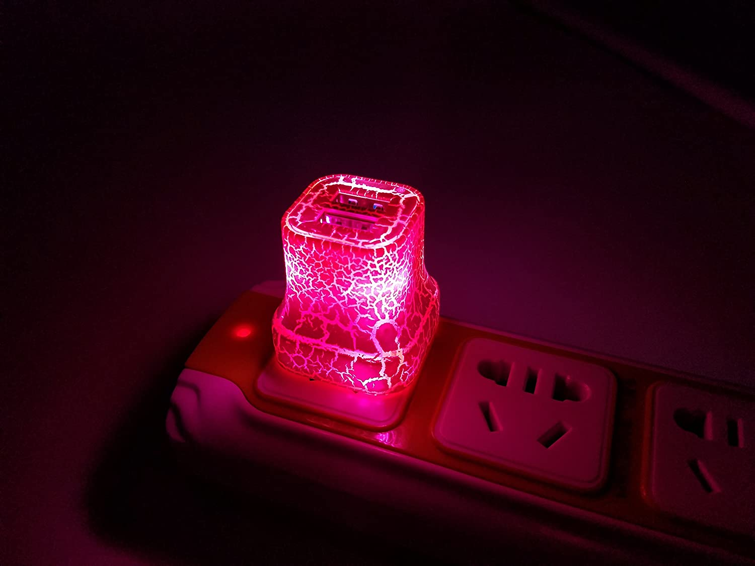 Pink YICHUMY 2 Amp Wall Charger Glow in The Dark Wall Charger 2-Port USB LED Charger for Phone XS Max//8 Plus 7 7 Plus iPod 5 Sony Xperia Z3 HTC M8 M9 LG Samsung Galaxy S7 S6 S4//S5//S6