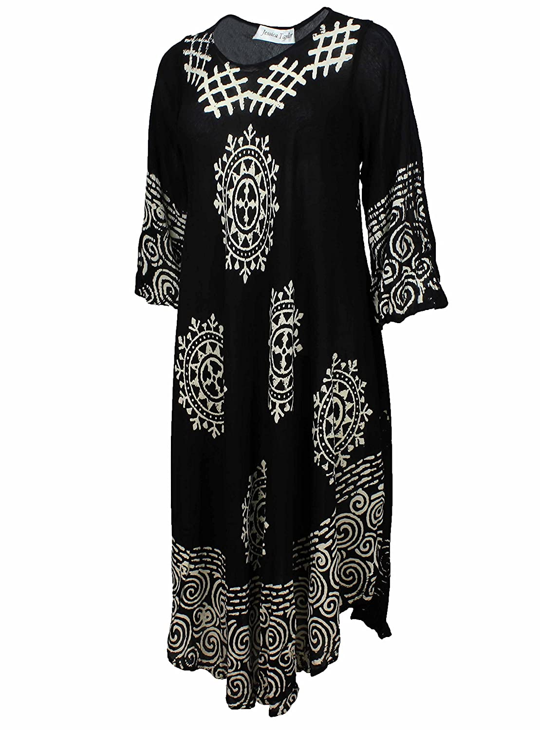Jessica Taylor Womens Plus Size Long Sleeve Cover up Dress