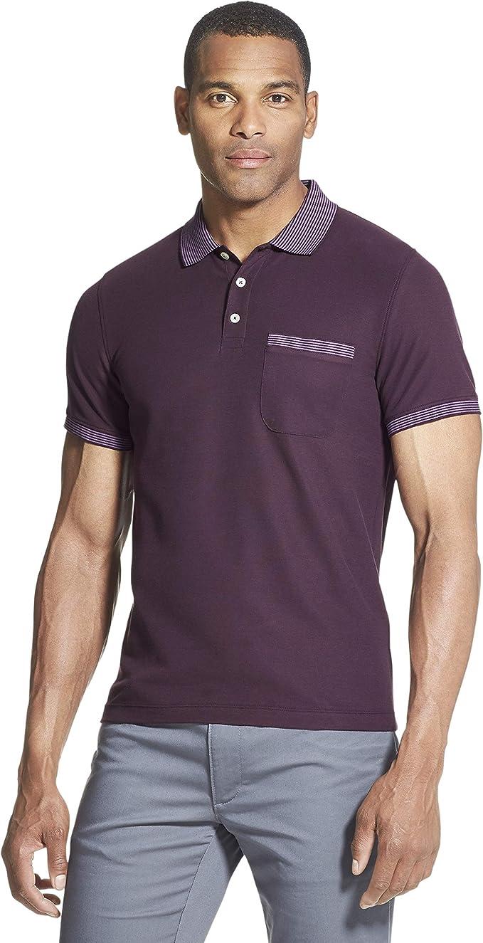 Van Heusen Mens Sport Shirt Cotton Blend Short Sleeves large