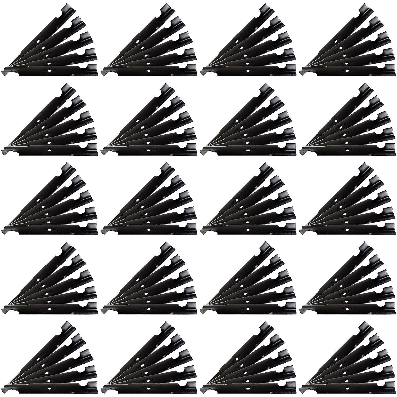100 Pack - USA Mower Blades ® Commercial Hi-Lift fits Exmark ® 103-2528 103-6582-S 103-6584 633484 303283 633482 633485